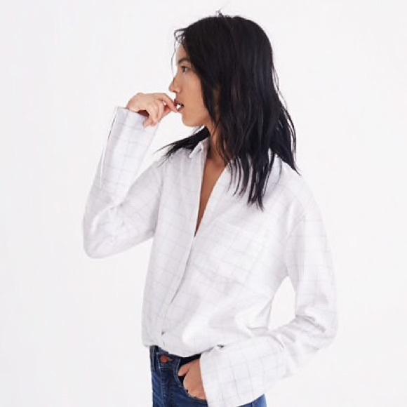 df96e68f6dc Flannel Oversized Ex-Boyfriend Shirt in Windowpane